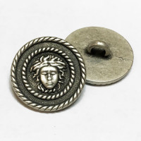 M-7910  Designer Look Metal Button, 11/16""
