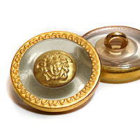 M-7917 - Medusa Head Fashion Button, Size 1""