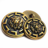 M-7974 Lion's Head Metal Button, 2 Sizes