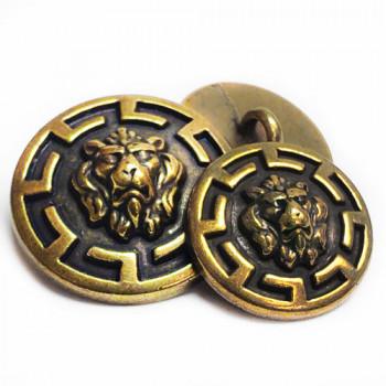 M-7974 Lion's Head Metal Button, 2 Sizes