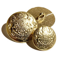 M-816 Satin Gold Blazer Button - 2 Sizes