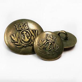 M-818-Antique  Brass Blazer Button, 2 Sizes