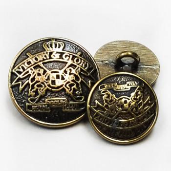 M-831-Antique Brass Blazer Button, 2 Sizes