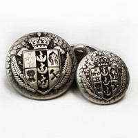 M-832-Antique Silver Blazer Button, 2 Sizes