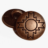 """M-843-Southwestern Style Metal Shank Button, 5/8"""" Only"""
