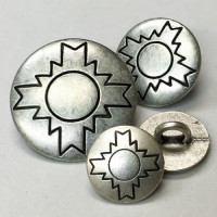 M-845-Southwestern Style Metal Shank Button, 3 Sizes