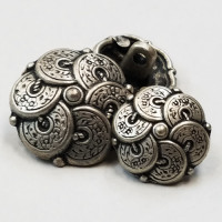 M-851-Metal Fashion Button, 2 Sizes
