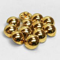 MG-7600-D Gold Metal Shirt Button, Sold by the Dozen