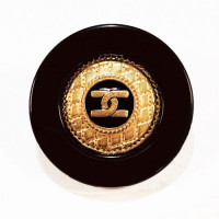 """MLP-1713 Black and Gold CC Button with Black Epoxy, 1-1/4"""""""