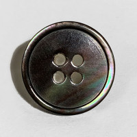 MP-223 Black Smoke Mother of Pearl, 5/8""