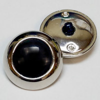 MSP-7246  Silver and Black Fashion Button
