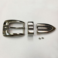 MTK-150  Nickel 3-Piece Buckle Set