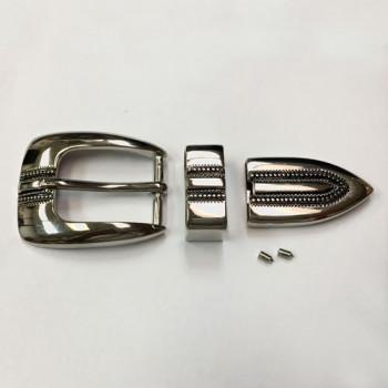 MTK-150  Nickel 3-Piece Buckle Set
