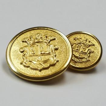 MTL-009  Gold Metal Blazer Button, 3 Sizes