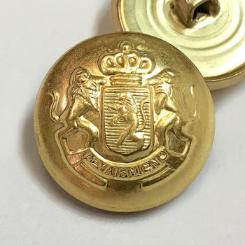 """MTL-16 - Matte Gold Coat and Jacket Button, 7/8"""" only"""