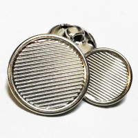 MTL-206-Silver Blazer Button - 2 Sizes