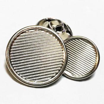 MTL-206-Silver Blazer Button - 2 Sizes