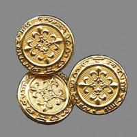 MTL-906-D Matte Gold Metal Button, Priced by the Dozen