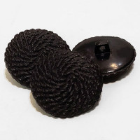 NV-1052D - Black Rope Look Button. Priced by the Dozen