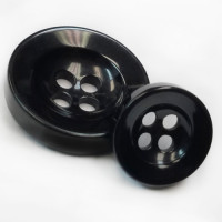 NV-1126-Black Fashion Button 3 Sizes