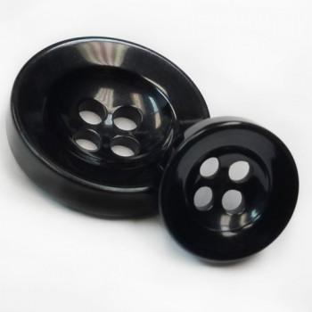 NV-1126 Black Fashion Button, 3 Sizes