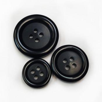 NV-1129-Black Fashion Button - 6 Sizes