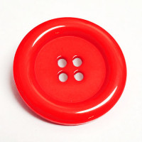 """NV-1130R Large Red Fashion Button, 1-3/4"""""""