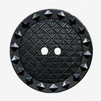 NV-1333-Black Fashion Button, 2 Sizes