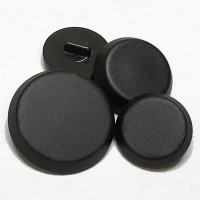 NV-1405 - Satin Black Shank Button, 3 Sizes