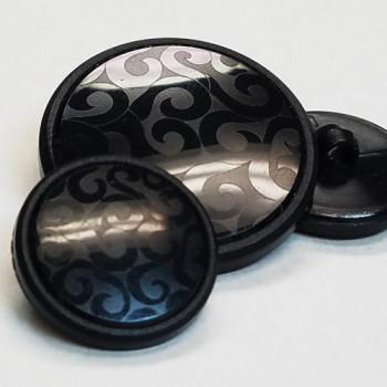 NV-1836 - Black Fashion Button - 4 Sizes