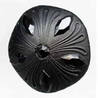 NV-1998-Satin Black Fashion Button, 2 Sizes