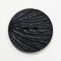 NV-511 - Black, Textured Shell Look Button