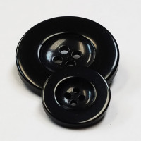 NV-1112-Black Fashion Button, 3 Sizes