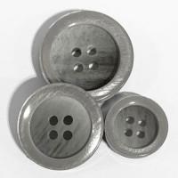 P-0367 - Light Grey Pearl Fashion Button, 3 Sizes