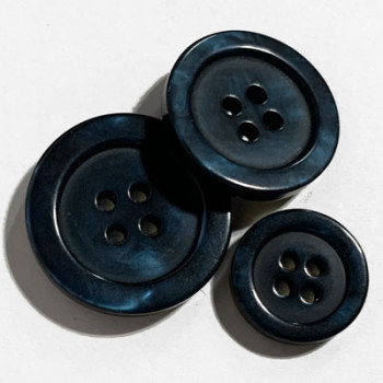 P-0395-N Pearly Fashion Button, 2 Sizes - Navy