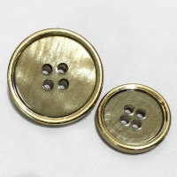 P-12138  Iridescent Tan + Gold Button, 2 Sizes
