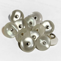 P-1222 - Pin-Shank, Poly Pearl Shirt or Blouse Button, Priced Per Dozen