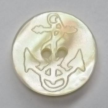 P-1265 Poly Pearl Anchor Button