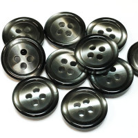 "P-513 Smoky Grey Pearl Button - 5/8"", Priced per Dozen"