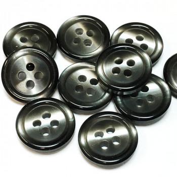 """P-513 Smoky Grey Pearl Button - 5/8"""", Priced per Dozen"""