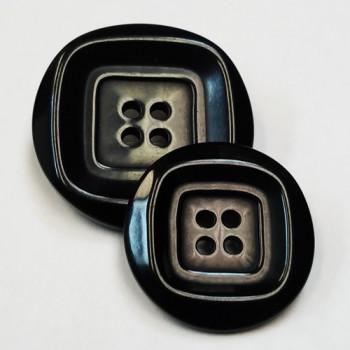 NV-1267 - Black Fashion Button, 2 Sizes