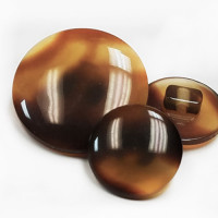 PT-1888-Tortoise Look Shank Button, 4 Sizes - Priced per Dozen