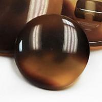 """PT-1888 - Tortoise-Look Shank Button, 1/2"""" - Priced per Dozen"""