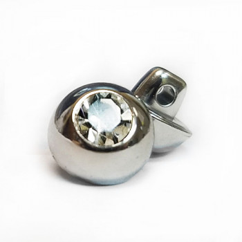 RHP-088 Silver and Swarovski Crystal Button