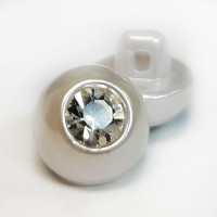 RHP-089 Pearl and Swarovski Button
