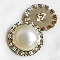 RHP-44-Pearl and Rhinestone Button 2 Sizes