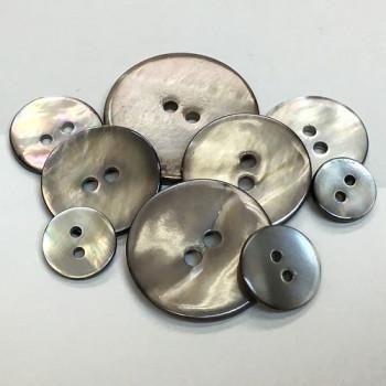 RSM-110 Smoke Rivershell Button -  9 Sizes, Priced per Dozen