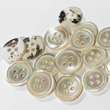 TR-170 White Trocas Shell Shirt Button, 2 Sizes