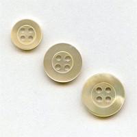 TR-200 Natural Trocas Shell Button - 3 Sizes Priced per Dozen