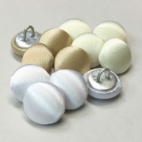 W-1035-Satin Bridal Button - 3 Colors, Priced by the Dozen - 3 Sizes